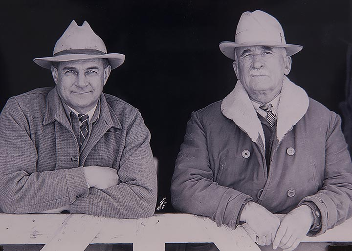 W.H.Hoover(l.) and Sam Stephenson (r.) circa 1938-40